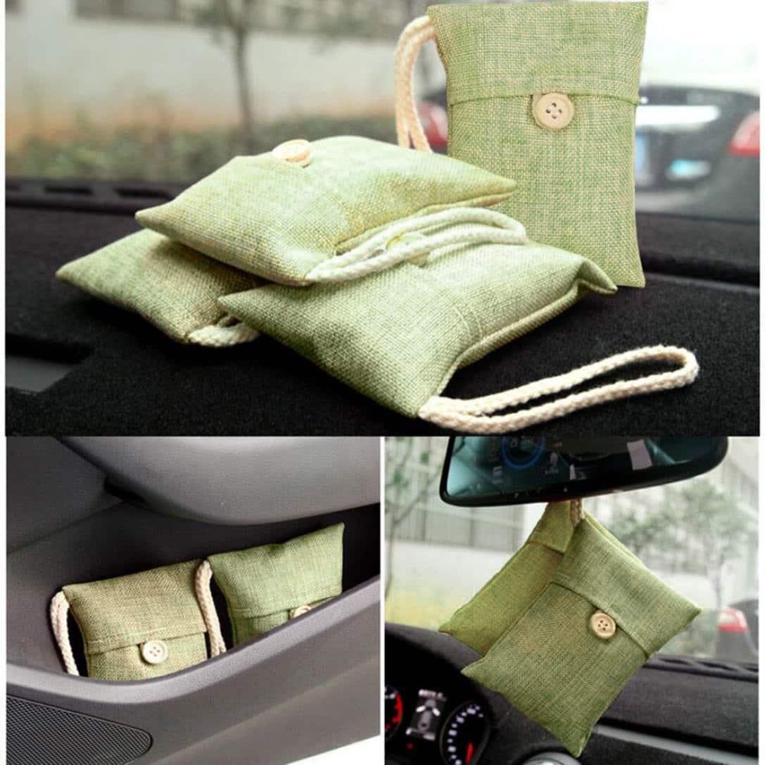 bolsa ambientador carbón de bambu