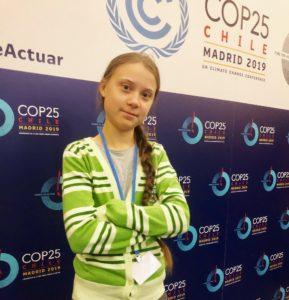 La activista sueca en la cumbre / Foto: @GretaThunberg