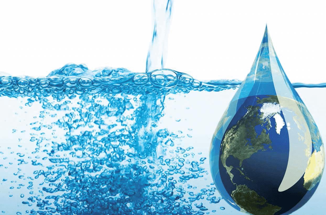 agua y gota de agua