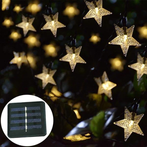 luces solares navidad jardín