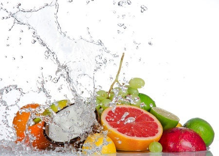 frutas frescas para vitamina C y extracto de semilla de pomelo
