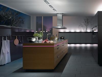 Luces de cocina LED en capas