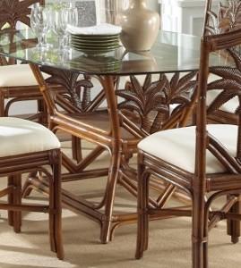 el bambú hace una mesa de comedor ecológica