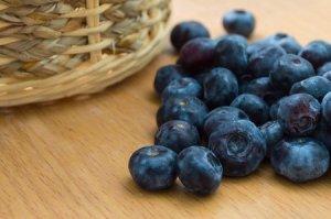 alimentos crudos arándanos fruta fresca