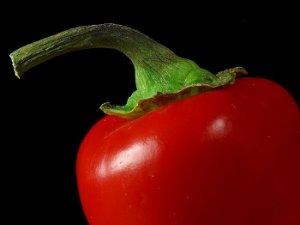 pimiento rojo comida cruda
