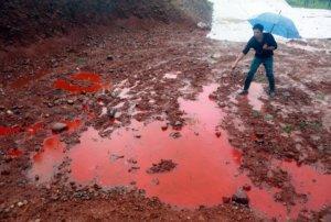 contaminación del agua por baterías y desechos industriales